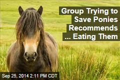 Group Trying to Save Ponies Recommends ... Eating Them