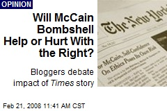 Will McCain Bombshell Help or Hurt With the Right?
