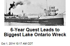 6-Year Quest Leads to Biggest Lake Ontario Wreck