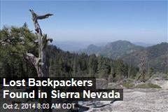 Lost Backpackers Found in Sierra Nevada