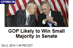GOP Likely to Win Small Majority in Senate