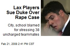 Lax Players Sue Duke Over Rape Case