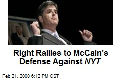 Right Rallies to McCain's Defense Against NYT
