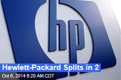 Hewlett-Packard Splits in 2