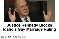 Justice Kennedy Blocks Idaho's Gay Marriage Ruling