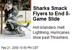 Sharks Smack Flyers to End 5-Game Slide