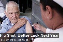 Flu Shot: Better Luck Next Year