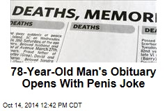 78-Year-Old Man's Obituary Opens With Penis Joke