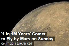 '1 in 1M Years' Comet Will Be Incredibly Close to Mars Sunday