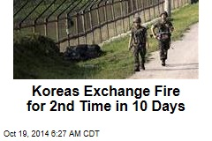Koreas Exchange Fire for 2nd Time in 10 Days