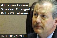 Alabama House Speaker Charged With 23 Felonies