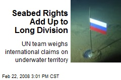 Seabed Rights Add Up to Long Division