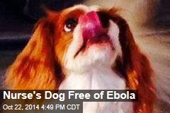 Nurse's Dog Free of Ebola