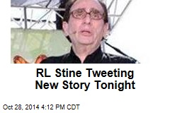 RL Stine Tweeting New Story Tonight