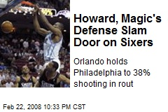 Howard, Magic's Defense Slam Door on Sixers