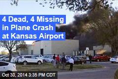 Small Plane Crashes at Kansas Airport