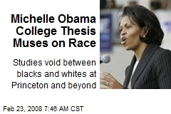 Michelle Obama College Thesis Muses on Race