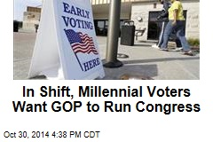 In Shift, Millennial Voters Want GOP to Run Congress