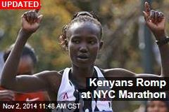 Kenyan Keitany Wins a Squeaker in NYC Marathon