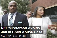 NFL's Peterson Avoids Jail in Child Abuse Case