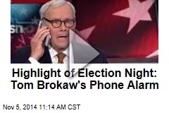 Highlight of Election Night: Tom Brokaw's Phone Alarm