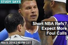 Short NBA Refs? Expect More Foul Calls