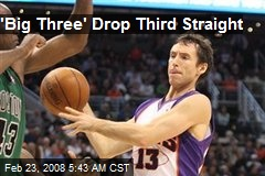 'Big Three' Drop Third Straight