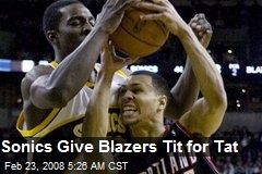 Sonics Give Blazers Tit for Tat