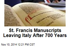 13th-Century St. Francis Manuscripts Headed to US