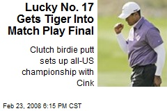 Lucky No. 17 Gets Tiger Into Match Play Final
