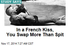 In a French Kiss, You Swap More Than Spit