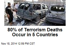 80% of Terrorism Deaths Occur in 5 Countries