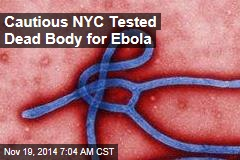 Cautious NYC Tested Dead Body for Ebola