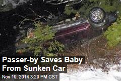 Passer-by Saves Baby From Sunken Car