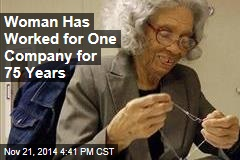 Woman, 93, Marks 75 Years With Same Company