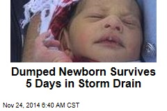 Newborn Dumped Down Drain Incredibly Survives