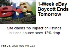 1-Week eBay Boycott Ends Tomorrow