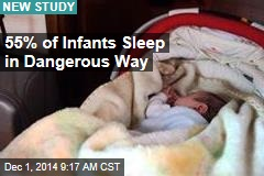 55% of Infants Sleep in Dangerous Way