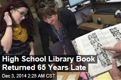 High School Library Book Returned 65 Years Late