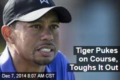 Tiger Pukes on Course, Toughs It Out