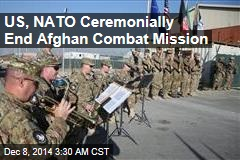 US, NATO Ceremonially End Afghan Combat Mission