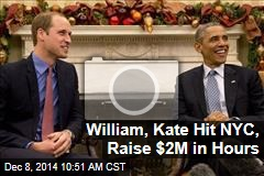 William, Kate Hit NYC, Raise $2M in Hours