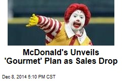 McDonald's Reveals Low Sales, New Plan