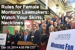 Rules for Female Montana Lawmakers: Watch Your Skirts, Necklines