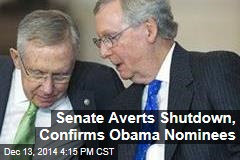 Senate Averts Shutdown, Confirms Obama Nominees