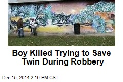 Boy Killed Trying to Save Twin During Robbery
