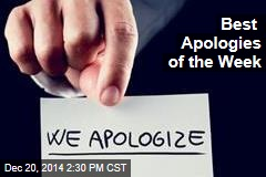 'Embrace the YES!': Best Apologies of the Week