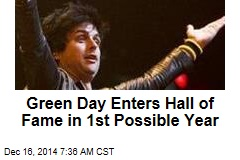 Green Day Enters Hall of Fame in 1st Possible Year