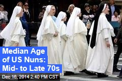 Median Age of US Nuns: Mid- to Late 70s