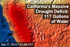 California's Massive Drought Deficit: 11T Gallons of Water